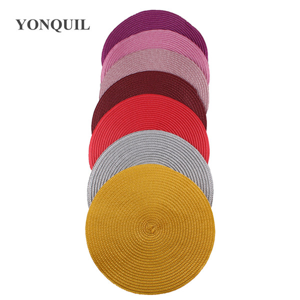 Множественный цвет 25 CM круглый fascinators основы для женщин DIY аксессуары для волос дамы шляп шляпа база чародей 12шт / много SYB35