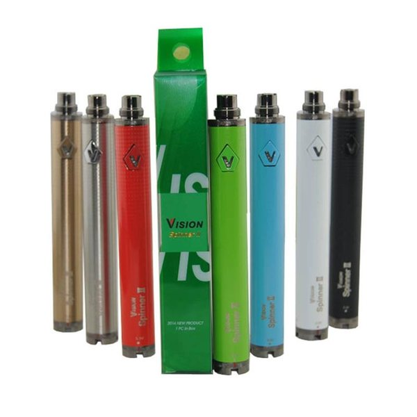New Colorful Vision Spinner II Battery 1650mAh Ego Twist 3.3 4.8V Spinner2 Variable Voltage High Quality For Evod MINI Tank Atomizer