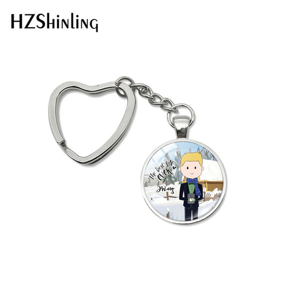 Newest JW .Org Heart Keyrings The Best Life Ever Quotes Cartoon Style Glass Cabochon Keyrings Men Woman Jewelry