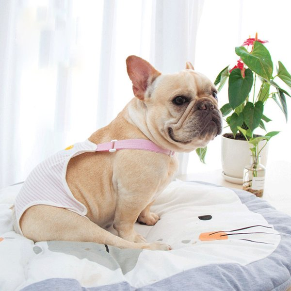 Cute Pet Strap Physiological Pants Small Teddy Puppy Dog Underwear Cotton Pet Dog Panties Soft Breathable Dog Diaper Apparel