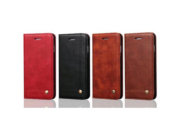 For iPhone XR XSMax X XS 8 8Plus 7 7Plus 6S 6SPlus 6 6Plus Plug-in card flip type Cell Phone Case 021