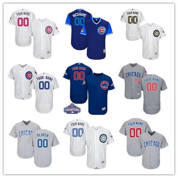 2019 Custom Herren # Damen # Kinder # Jungen Weiß Chicago Royal Cool Base Custom Jersey