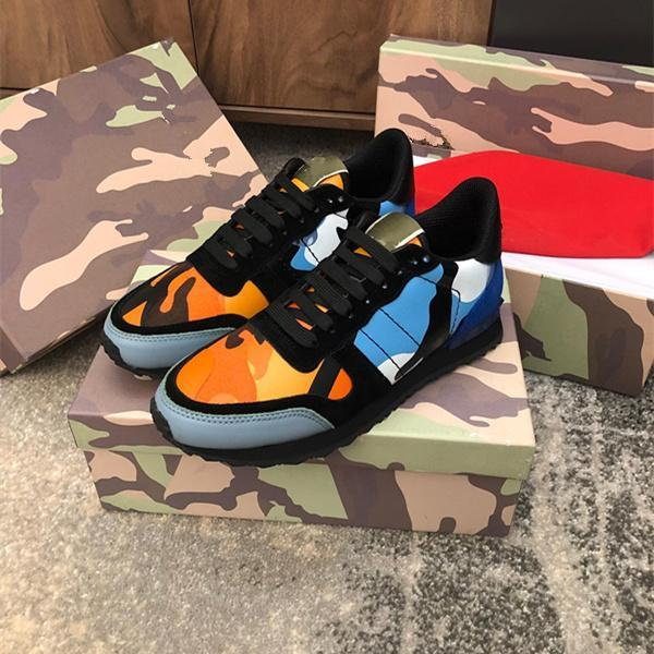 Top qualité 2019 Designer luxes Hommes Femmes Rockrunner Chaussures Camoufalge Chaussures Casual Avec étoile des chaussures Zapatos Schuhe trainersL30