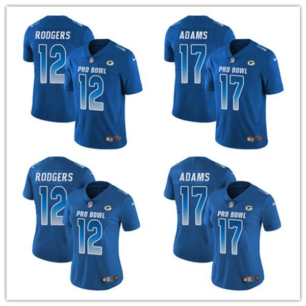 sale retailer 4e9d4 d2f10 2019 12 Aaron Rodgers 17 Davante Adams Limited Jersey Green Bay Men'S  Packers Royal Blue NFC 2019 Pro Bowl Football Jersey From Tvvt, $30.46 | ...