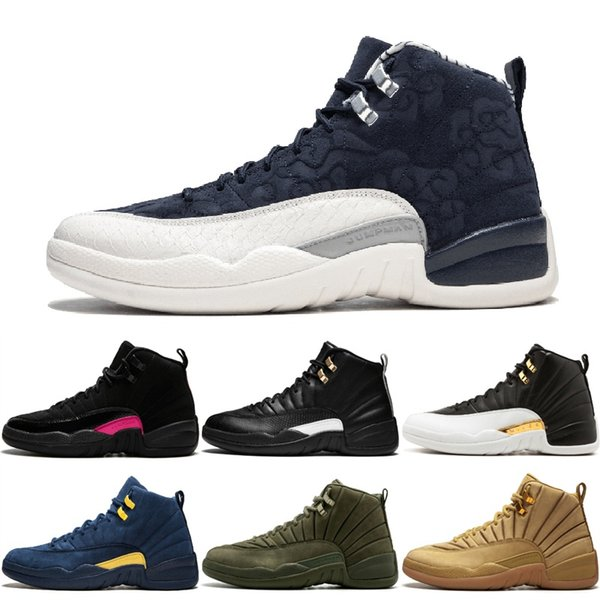 new styles 44258 43d87 Wing It 12 Gym Red College Navy Men Basketball Shoes International Flight  Michigan Bulls Flu Game The Master Taxi 12s Sports Sneakers 8 13 Sneakers  ...