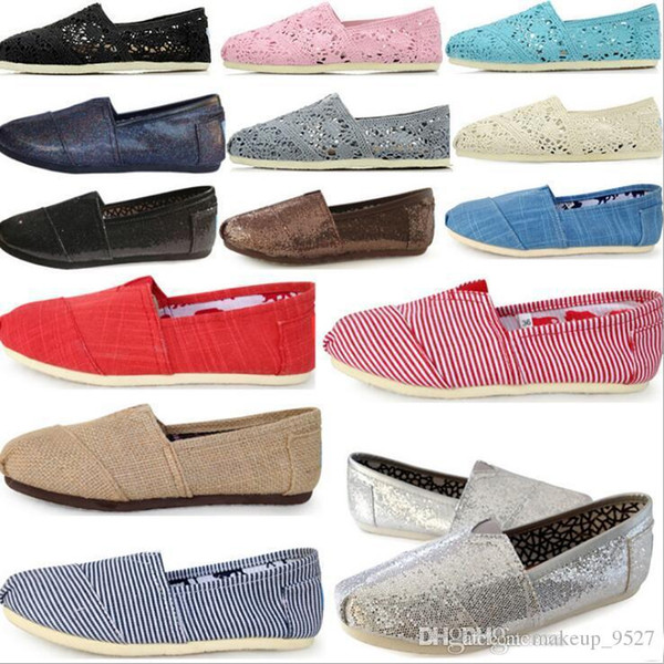Free shipping 2019 women / men canvas casual shoes canvas flats loafers casual single shoes solid flat sneakers for women