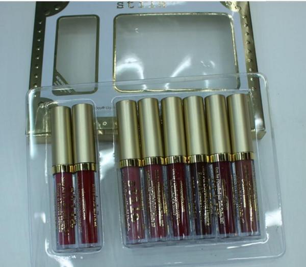 stila Star-studded Eight Stay All Days Liquid Lipstick set 8pcs box Long Lasting Creamy Shimmer Liquid Lipstick Drops hipping