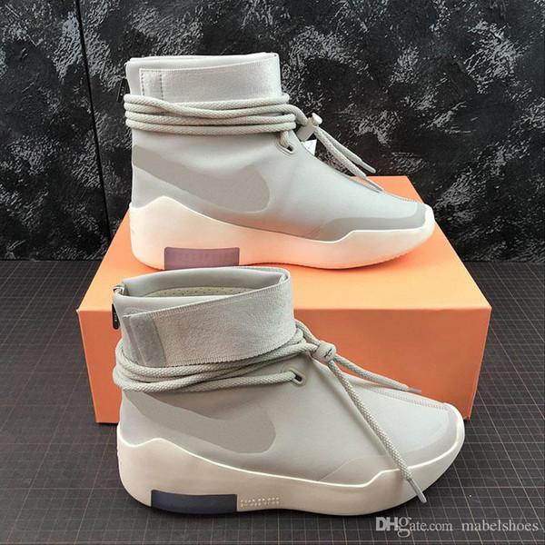 2019 Fear of God Schießen um Basketball-Schuhe NEBEL Short Edition Fashion Bone Designer Mens Casual Sports Sneakers
