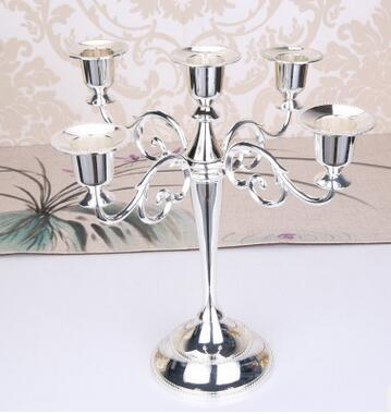 Metal Candle Holders For 5-arms or 3-arms Candle Stand Candlelight Dinner Candelabra Wedding Party Christmas Candlestick Decor craft