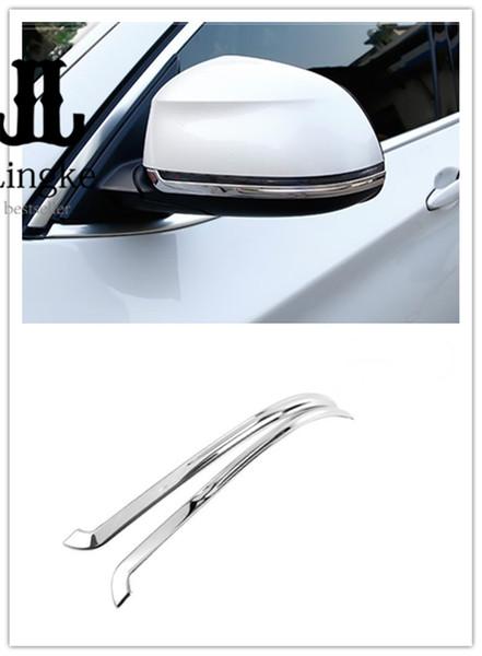Bandes décoratives de garniture de couverture décorative de miroir de voiture en acier inoxydable pour BMW X5 F15 2014 2015 2016 2017