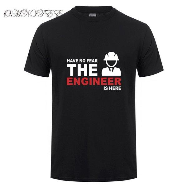 La mode estivale n'a pas peur de l'ingénieur est ici T-shirt homme ingénieur en coton à manches courtes T-shirt pour homme T-shirt camisetas Ot-658 Y19050701