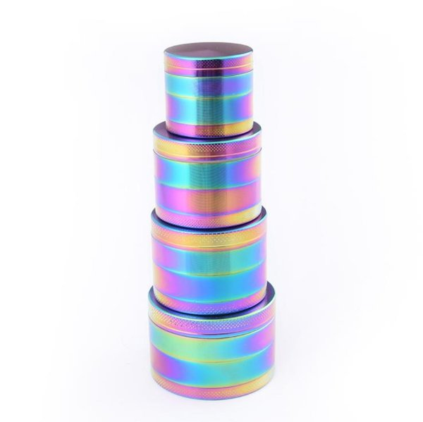 Zinc Alloy ice blue Herb Grinder 4 Layer Parts Grinder Herb Cigarette Smoking Spice Crusher With teeth