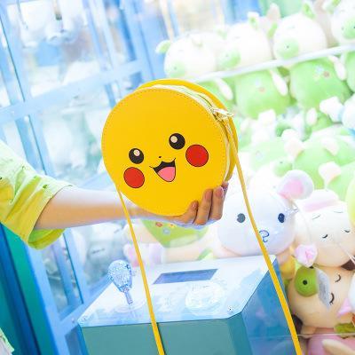 Gros smiley sac super mignon créatif téléphone mobile émoticône pack mignon dessin animé épaule en bandoulière en personnalité mini sac rond sac à main1