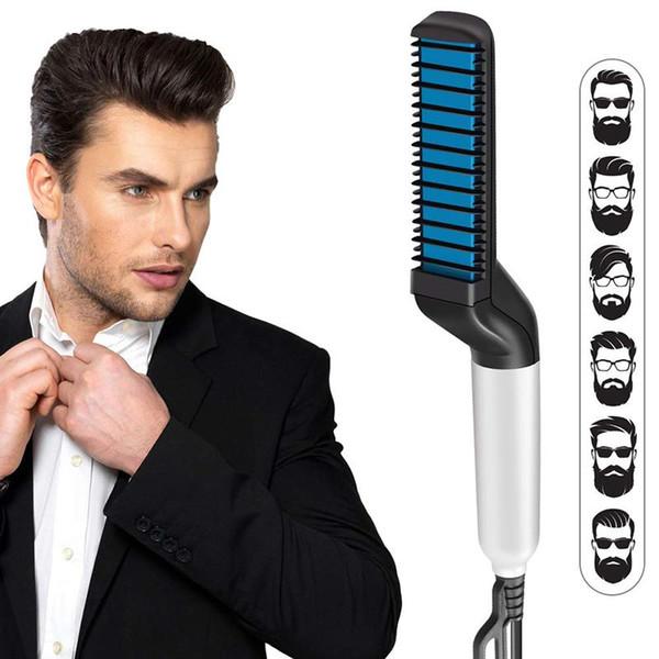 Peine para alisar la barba de los hombres Peine profesional rápido para el cabello Peine multifuncional para el cabello Curling Iron Magic Massage Comb Beard