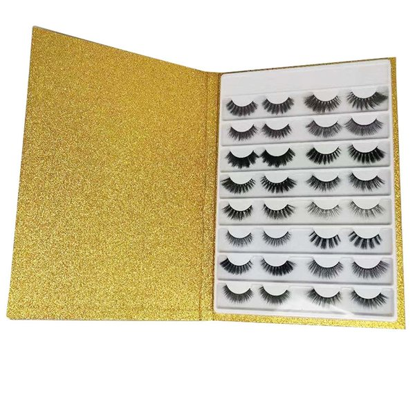 Gold Glitter Box with lashes