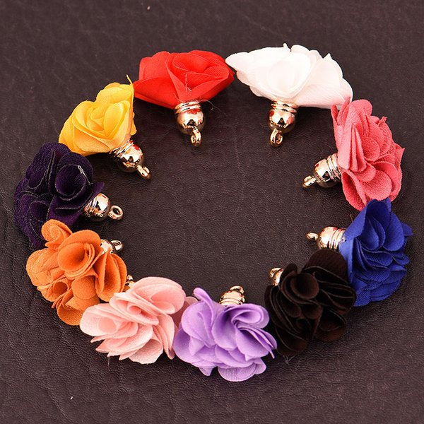10pcs/lot 3cm mini flower tassels small tassels flower jewelry making supplies earring bracelet necklace findings&components