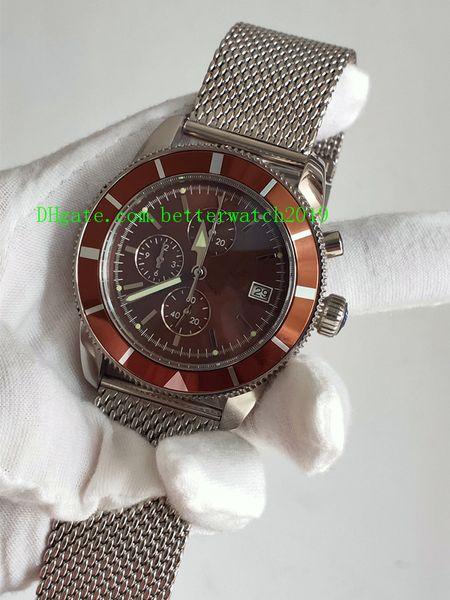 Yeni Superocean Klasik Miras A1331233.Q616.152A 46 Tarih A1732124 | BA61 | 154A Dial kuvars Chronograph Erkek İzle Paslanmaz Çelik Bracel