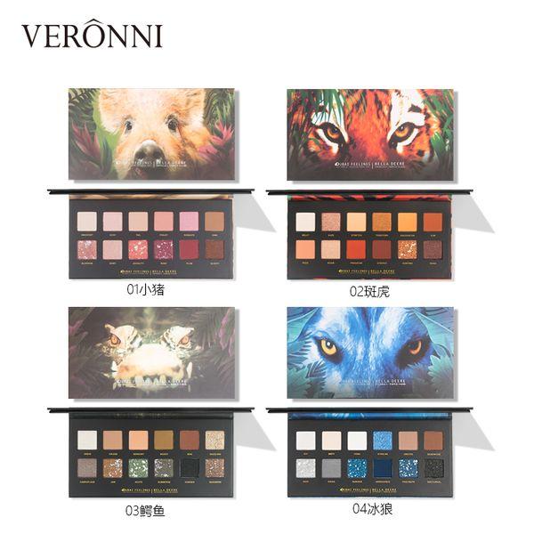 Kosmetik Make-up Neueste beliebte Lidschatten-Palette Make-up 12 Farben Animal Design Lidschatten-Palette
