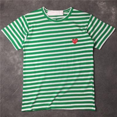 GIOCO CDG di alta qualità si abbina a t-shirt da uomo di design OFF Con t-shirt sport cuore Camicie des garcons Camicia a righe bianche Pablo Pantaloncini estivi