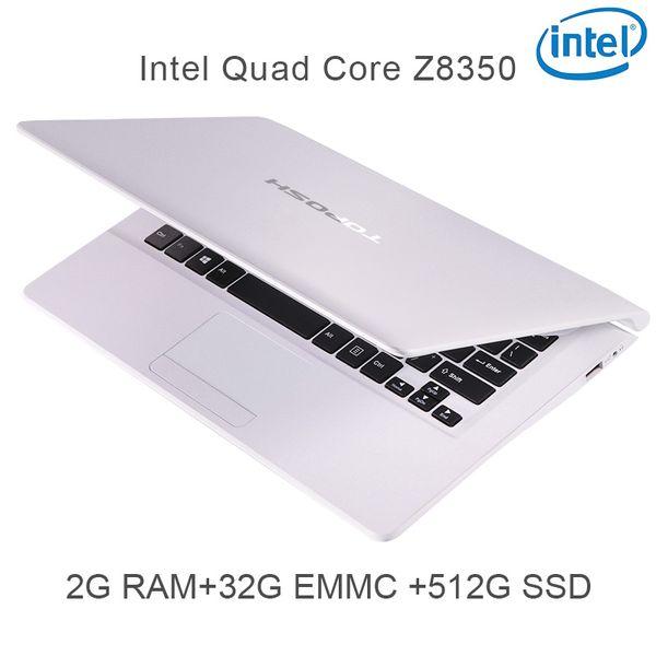 "P5-05 white 2G RAM 32G EMMC 512G Intel Atom Z8350 11.6"" Windows10 HDMI WIFI System Laptop bluetooth computer notebook USB3.0"