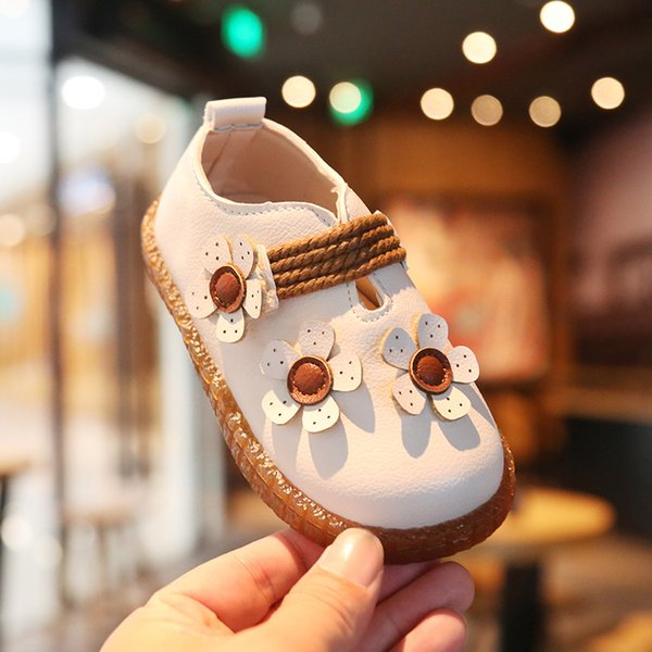 Spring and Autumn Baby Girls Shoes First Walkers Breathable Flower Princess First Walkers Kids Shoes Toddler
