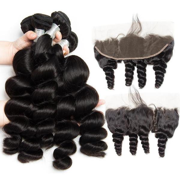 10A Brezilyalı Bakire Saç Kapatma Uzantıları Ile 3 Demetleri Ile Brezilyalı Vücut Dalga Saç Kapatma İşlenmemiş Remy İnsan Saç Dokuma