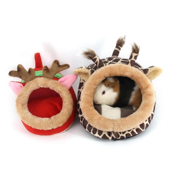 Nouveau Mignon Doux Doux Doux Cobaye Cage Pour Mini Souris Animaux Rat Rat Lit Hamster Maison Petit Pet Produits Q190603