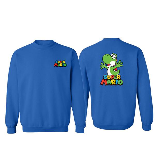 Super Mario Bros Luigi Koopa Yoshi SweatshirtSeries Hoodie Men Negro Sudaderas Fleece Streetwear 2019 FASHION