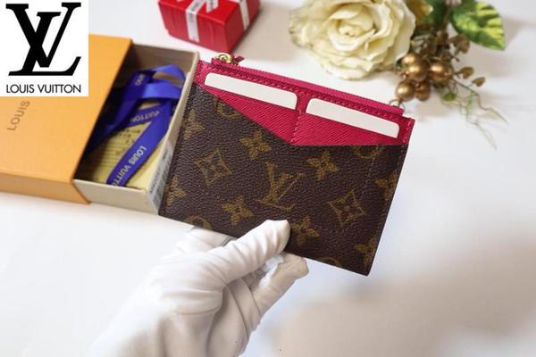 M62257 personalizzata fresco borsa del portafoglio Donne Vera Pelle Portafoglio catena titolari portafogli key card Compact borsa pochette da sera