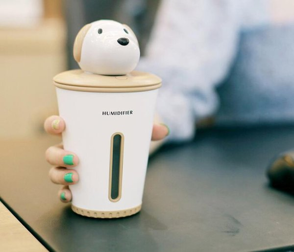 Cute Dog Air Humidifiers USB Essential Oils Diffuser Desktop Humidifier For Home Office Car USB Diffusers