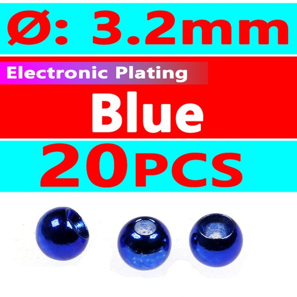 20pcs blue 3.2mm