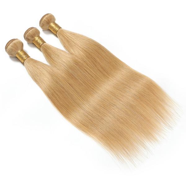 8A Honey Blonde Brazilian Hair Weave Bundles Body Wave 3pcs/lot #27 Color 100% Human Hair Bundles Non Remy Hair Weaves Extension