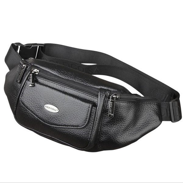 New Men Genuine Leather Belt Bum Fanny Pack Waist Bag Vintage Travel Shoulder Messenger Hip Sling Chest Pack