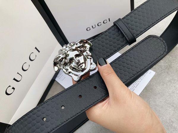 2019 Alta qualità Designer Business Waistbands Importazioni in vera pelle Fashion Big Hoof Calzature Uomo S Cinture con cinturino
