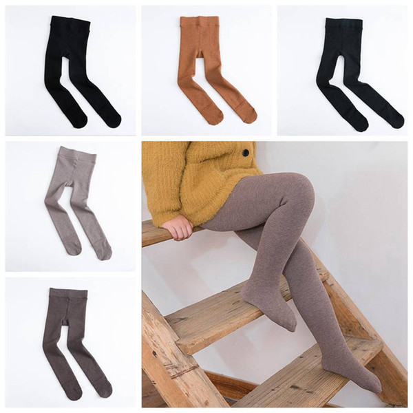 96644bc9644a6d Winter Girls Leggings Fleece Pantyhose Girls Warm Ballet Tights Legging  Toddler Skinny Pants Solid Trousers Kids