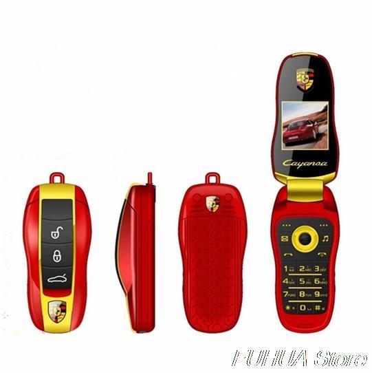 New Arrive Unlocked Fashion Mini Car Key Shape Cellphone Student Flip Mobile Phone Childrend's Toy Dual Sim Card Cheap Cartoon Cell phone