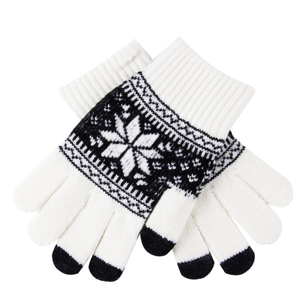 5 Soft Style hiver chaud Hommes Femmes Touch Gants d'écran texto capacitif Smartphone Bonneterie