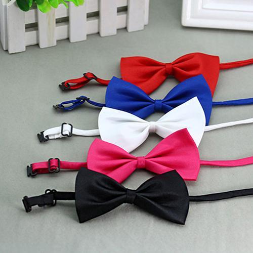 Симпатичные сплошной цвет регулируемый кот галстук-бабочка ошейник для собаки бантом галстук-бабочка