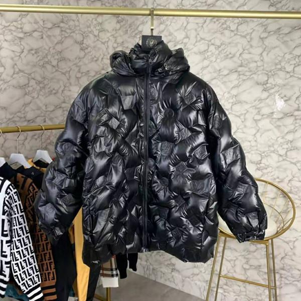 victoire 19FW Doudounes embosser capuche Manteaux longs Casual Street Fashion Poches chaud Hommes Femmes Couple Outwear zdl1205 libre de bateau ..