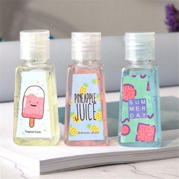 best selling 30ml 60ml Empty PET Plastic Bottle with flip cap trapezoid shape bottle for makeup fluid disposable hand sanitizer
