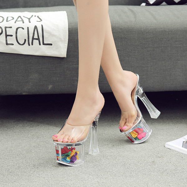 Fascinating2019 Shoes High-heeled 18cm Stage Go Excellent Super High With Sandals 109-8