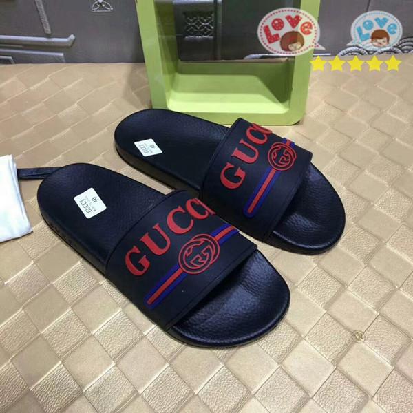 2019 klasik Hızlı gönderi Lüks Kadın Erkek Sandalet 35-46 moda Düz sandalscasual sneakers en kaliteli iş ücretsiz teslimat çiçek kutusu M13