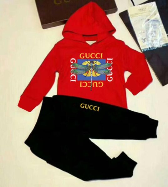 New Classic Luxury Logo Children's Sportswear Set Designer Baby Jacket + Pants Fashion Children's 2 Piece Dress Long Sleeve
