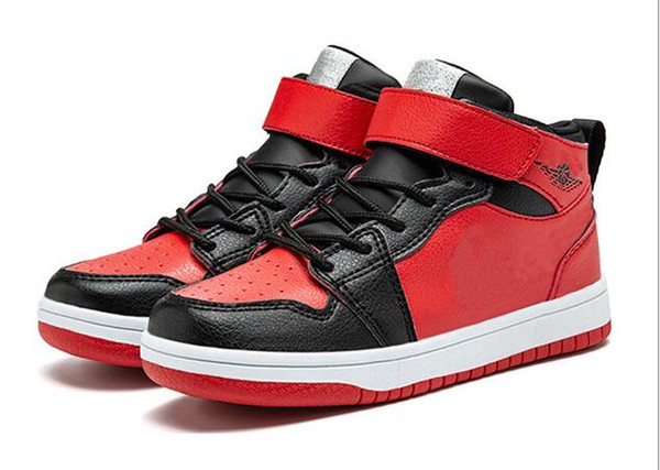 Luxury designer Kids 1s Space Jam Bred Concord Gym Red off Basketball Shoes Children Boy Girls youth white Midnight Navy Sneakers Toddlers
