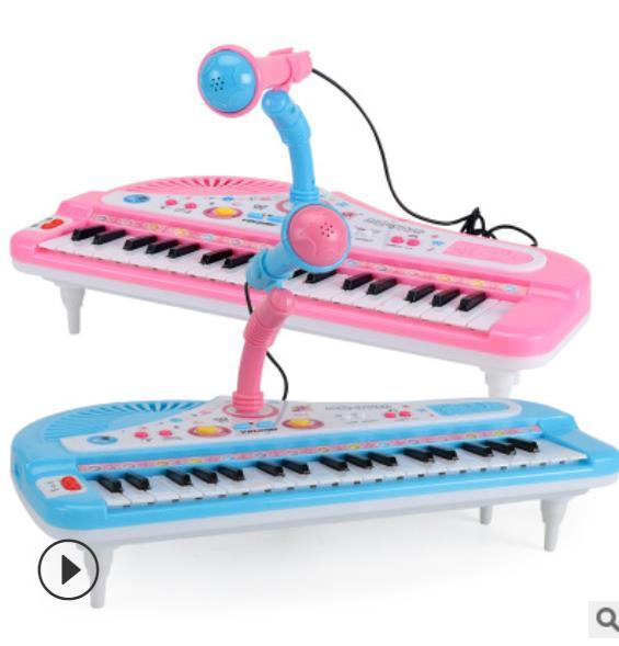 best selling Kids 37Keys Mini Simulation Electrical Keyboard Piano Toy With Microphone Musical Instrument Developmental Educational Toy