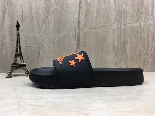 2019 Sophia Webster unicorn beach slippers top quality Black Orange Sandals Men Women designer flip flops Summer slides slipper Size 36-44