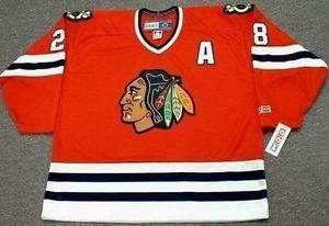 Kişiselleştirilmiş Yetişkinler Ladys Altyapı ÇALIŞMA LARMER Chicago Blackhawks 1990 Hokey Formaları Goalit Cut Formaları