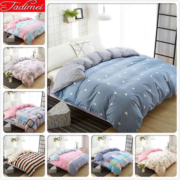 Neue Mode Blau 1 Stück Bettbezug 150x200 180x220 200x230 220x240 Bettwäsche Tasche Quilt Einzel Twin Queen King Big Size Tagesdecke