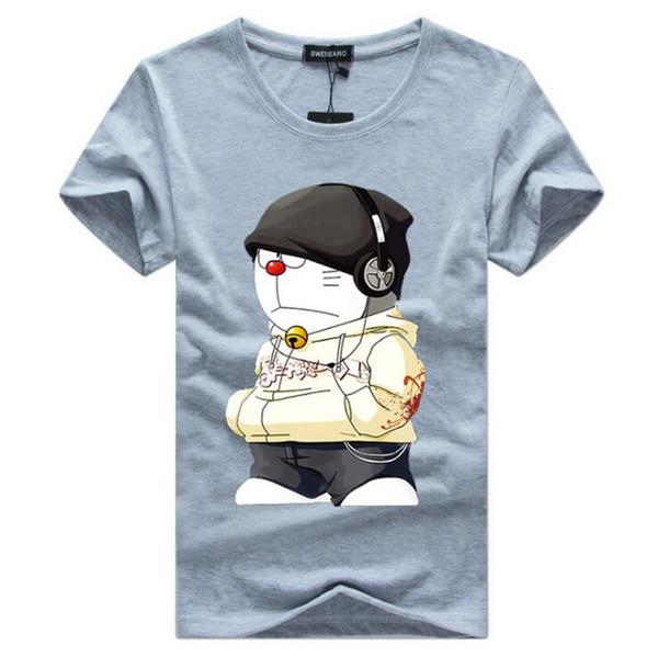 2019 homens verão t-shirt plus size 4xl-5xl t-shirt curto longo linha de fone de ouvido dos desenhos animados impressão roupas masculinas camiseta bd9