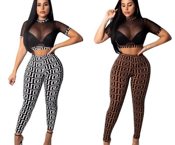 Fashion Women Tees +Pants Women sportswear short sleeve outfits 2 piece set tracksuit jogging sportsuit T-Shirts legging outfits sweatshirt